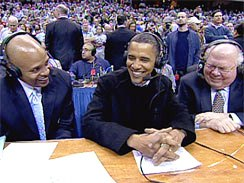Obama Drops In On College Hoops Broadcast; Jokes About 'Going Right ...