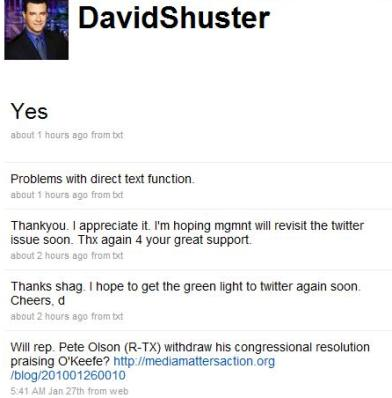 David Shuster's Twitter feed screen cap | Mediaite.com