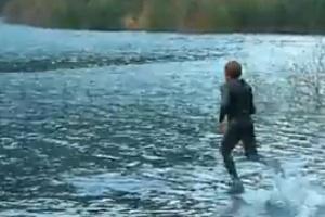 Liquid Mountaineering Fake - Walking On Water Hoax - Video | Mediaite