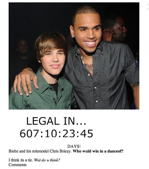 p.s. Justin Bieber is Canadian. p.p.s. Geekosystem editor Robert Quigley