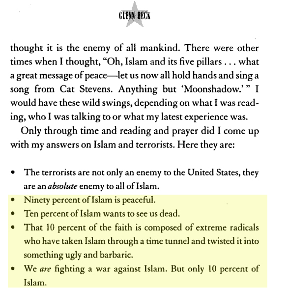 glenn beck book. Glenn Beck, Muslims