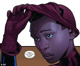 Marvel Comics killed Spider-Man and they made him some black, gay guy!""