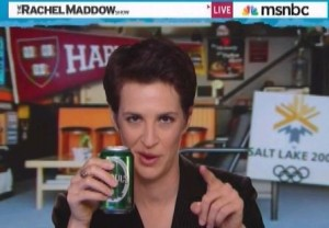 Rachel Maddow Browsing hookupwithhotties dot com from her MSNBC Man Cave, Looking for Moammar Gadaffi Wife Photos