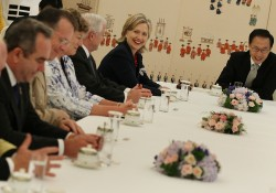 US Defense Secretary Gates And Secretary Of State Clinton Travel To Asia
