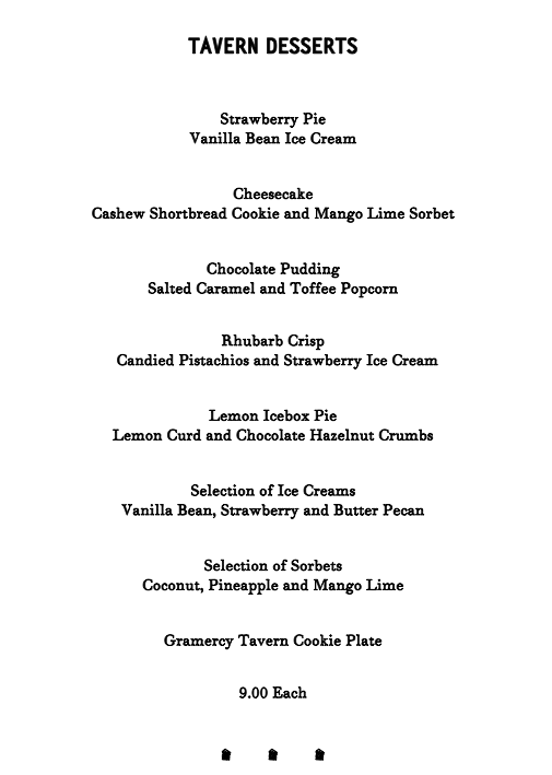 gramercy tavern dessert