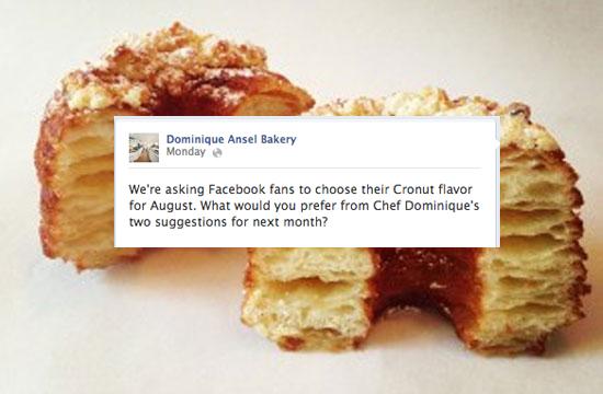 cronut facebook