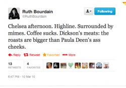 ruthbourdain tweet