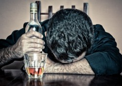 drunk at bar