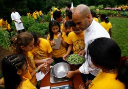 First Lady Michelle Obama Holds Food And Nutrition Event In WH Garden