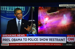 Obama Probably Didn't Anticipate These Haunting Split Screens During His Speech