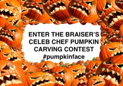 The Braiser is running a pumpkin-carving contest for Halloween.