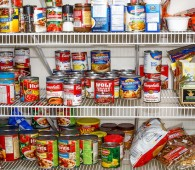 ATLANTA GEORGIA - March 5 2015: Photo of well stocked pantry ready for winter