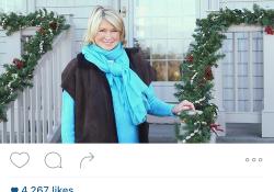Martha Stewart Christmas Prep Instagram