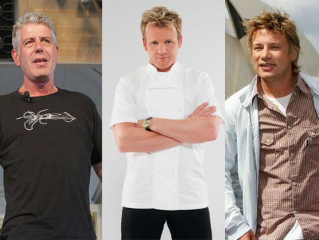 Jamie Oliver and Anthony Bourdain vs Gordon Ramsay
