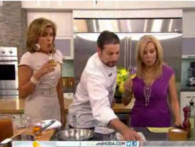 Paul Corsentino Breaks A Wine Glass With Kathie Lee & Hoda