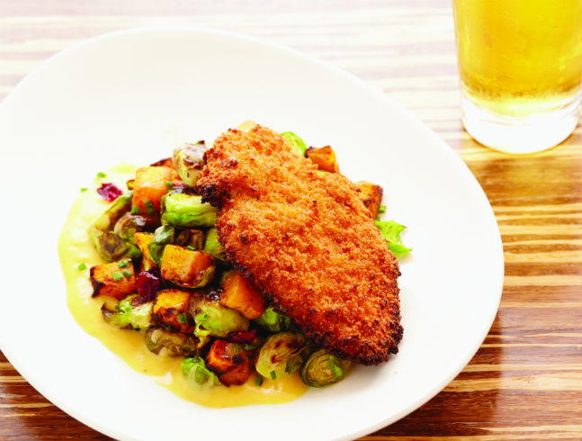 Art's Unfried Chicken with Roasted Brussels Sprouts