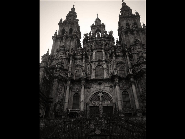 The End -- at the Cathedral of Santiago de Compostela