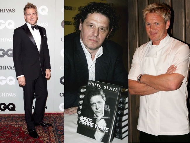 Marco Pierre White: Curtis Stone and Gordon Ramsay