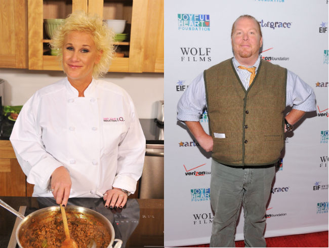 Mario Batali and Anne Burrell