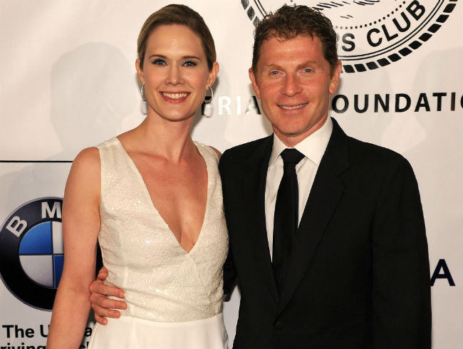Bobby Flay and Stephanie March