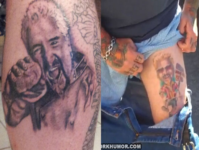 Not one, but TWO Guy Fieri tattoos