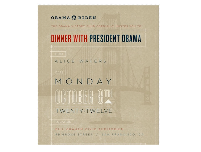 Alice Waters and Tyler Florence at the Bill Graham Civic Auditorium (Obama)