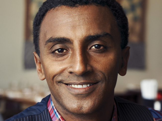 Marcus Samuelsson at Red Rooster (Obama)