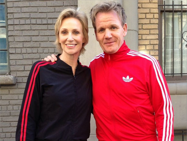 Jane Lynch and Gordon Ramsay