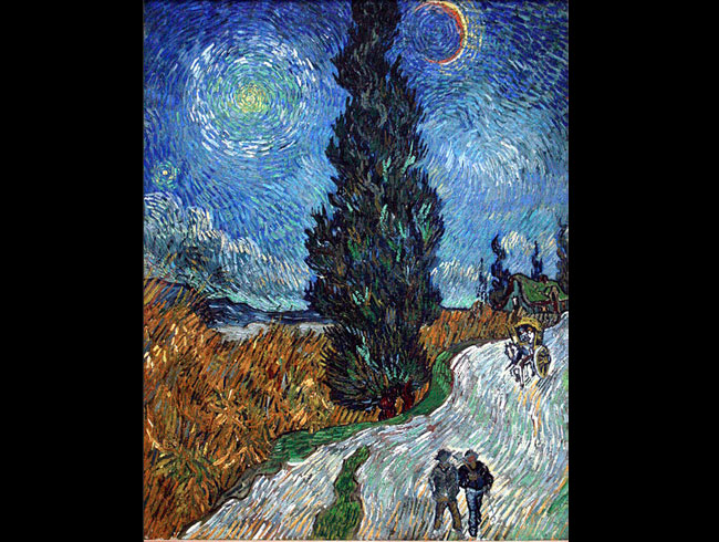 Vincent van Gogh, <em>Road with Cypress and Star</em>