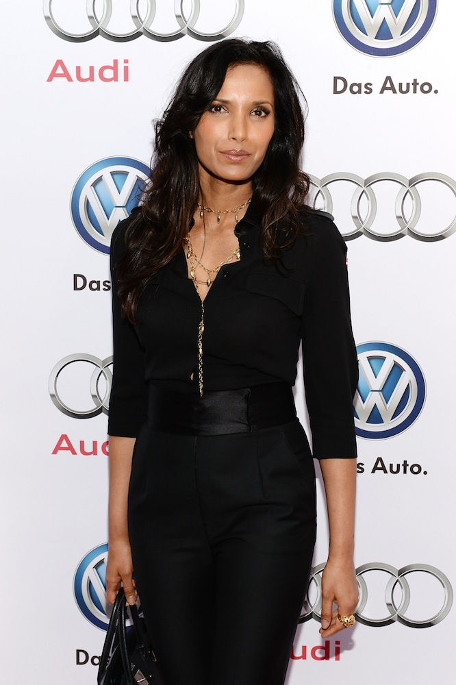 This is what Padma Lakshmi looks like while making money.