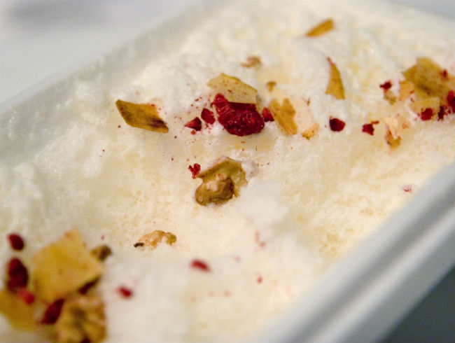 Parmesan Snow With Muesli at elBulli
