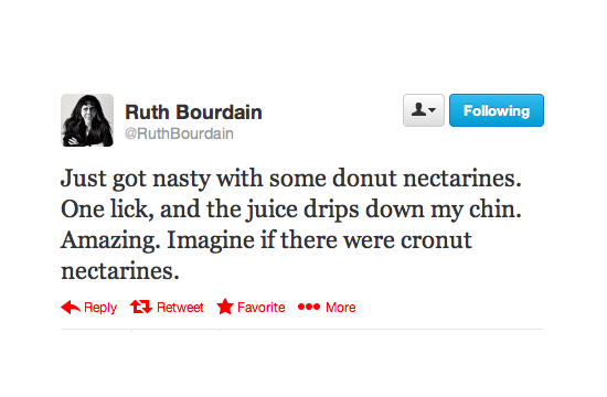 Even Ruth dreams of Cronuts.