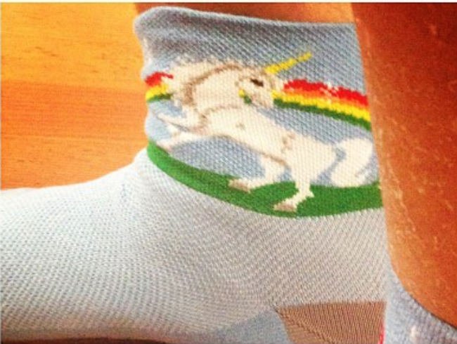 Tyler Florence Is Gifted Unicorn Socks For Father's Day