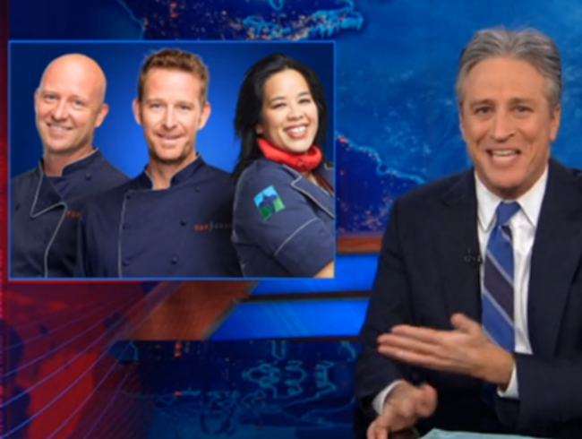 WATCH: Jon Stewart Wants <em>Top Chef</em> Consequences For Congress