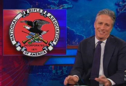 Jon Stewart Trashes NRA: They Must Be A Michael Moore-Run ...
