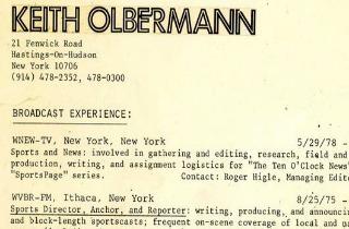 Keith olbermann resume
