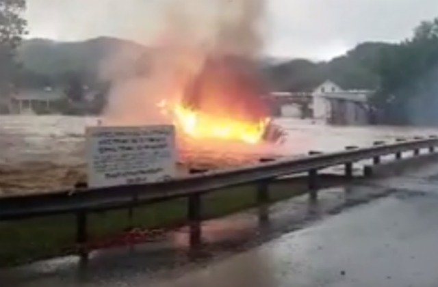 Insane Video From WV Flooding Shows A House, On Fire, Floating Down A Creek  | Mediaite