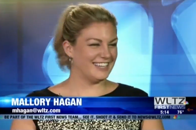 watch today was former miss america mallory hagan s first day as a local news correspondent mediaite