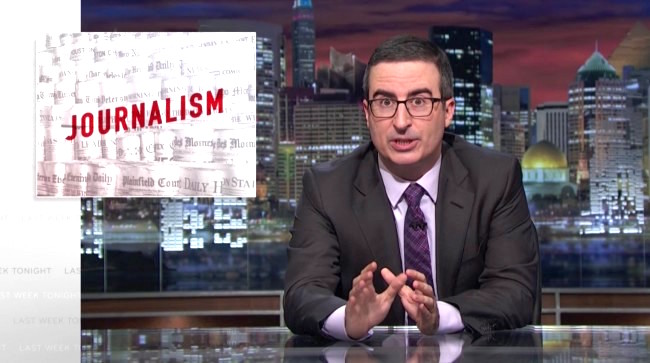 John Oliver's Take Down of Modern Journalism is the Best Thing Ever Done on the Subject