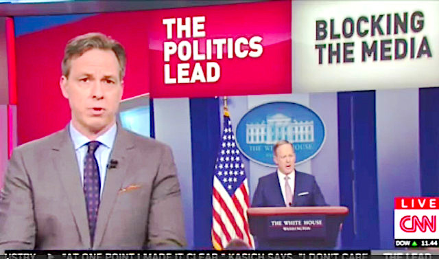 'The Word is Un-American': Jake Tapper Goes Off On White House For Blocking CNN From Gaggle
