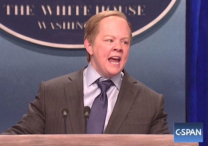 Melissa McCarthy Plays Sean Spicer Going Nuts on the Press in Hilarious SNL Sketch: 'APOLOGIZE TO ME!'