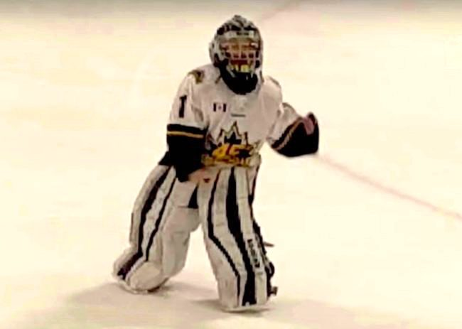 This 8 Year Old Hockey Goalie Is Going Viral For Busting Out Some