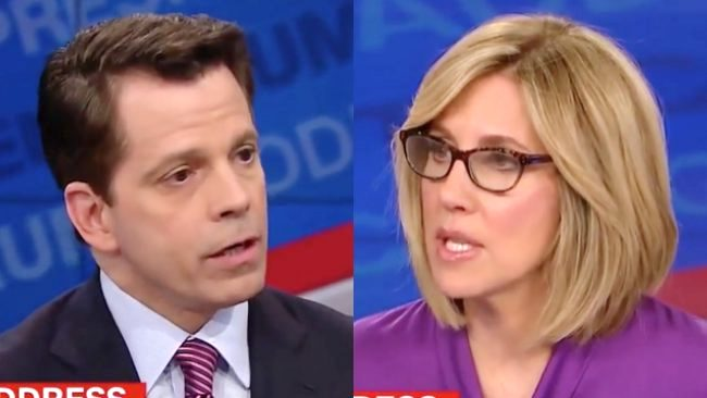 Image result for scaramucci and alisyn camerota pictures