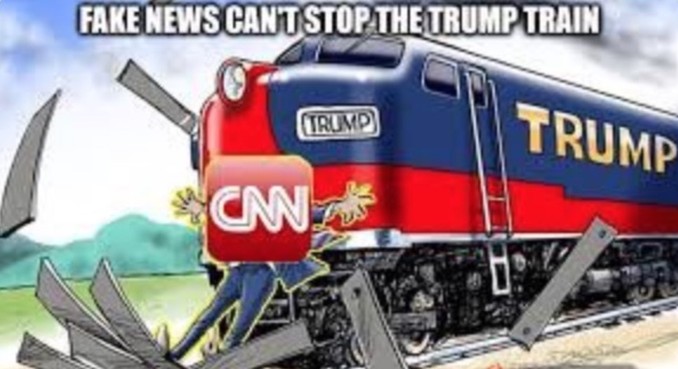 Trump Deletes Retweet of Meme Depicting CNN Getting Hit by a Train