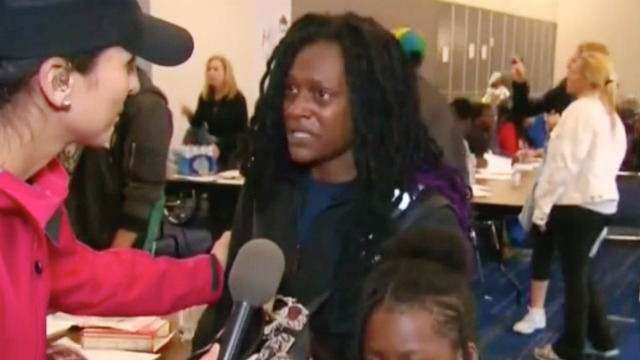 Mother at Houston Shelter Goes Off on CNN Reporter for Putting 'Microphone in My Face' | Mediaite