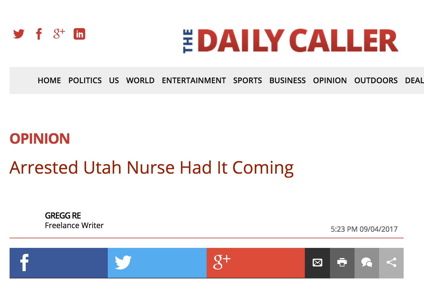 Daily Caller Raked By Twitter After Disaster Take Slamming ... Daily Caller