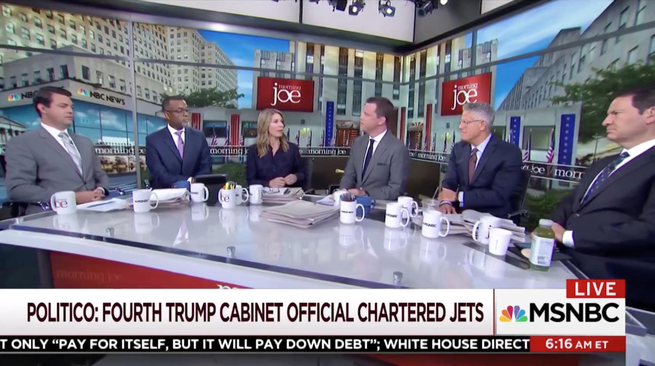 Morning Joe Slams Trump's 'Crony Cabinet' for Jets: 'Stupidity on ...