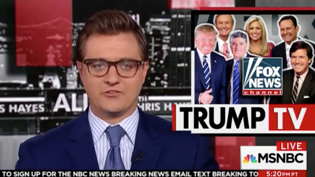 Chris Hayes: Fox News, Trump Throwing Russia Things ...