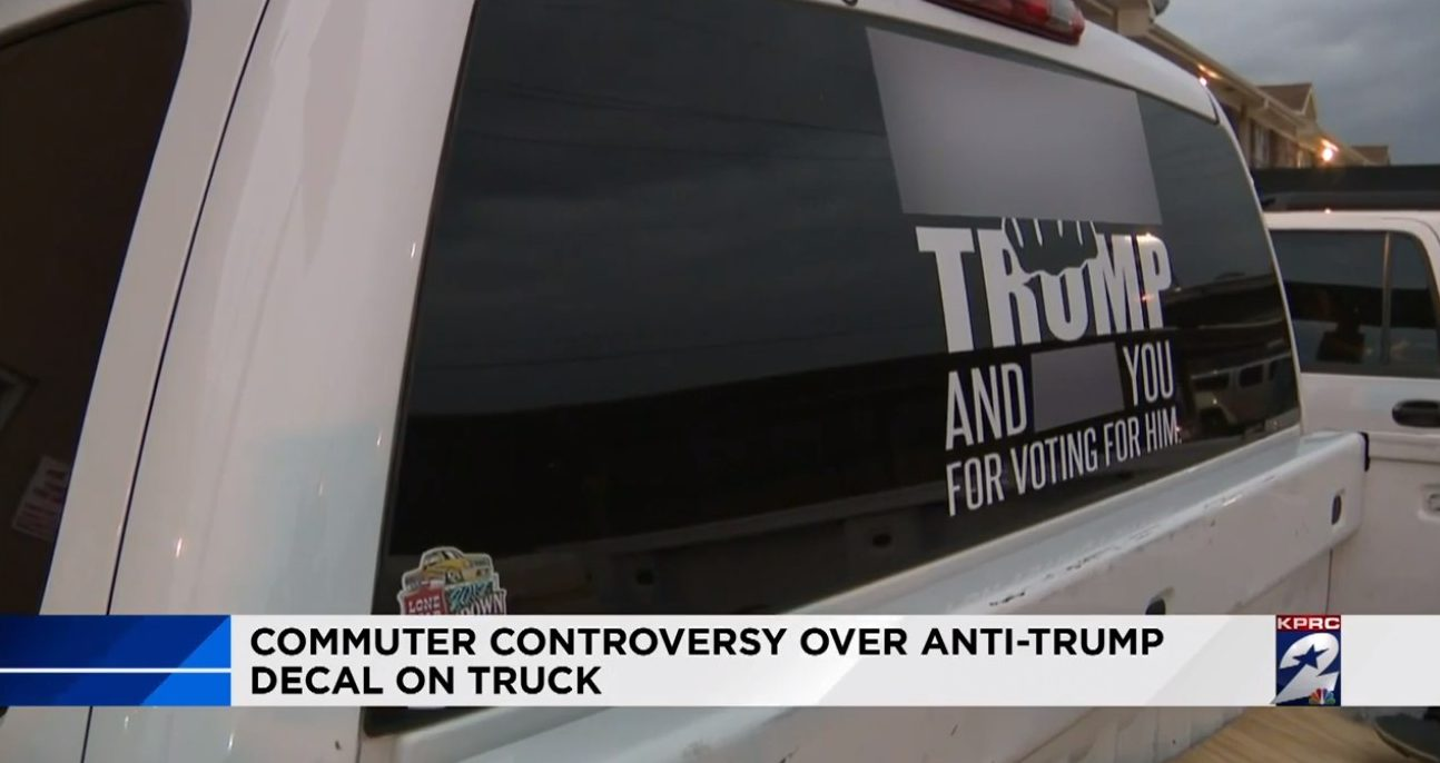 Fck trump truck sticker triggers local sheriff offensive display