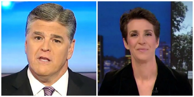 Sean Hannity #1 in Total Viewers, Rachel Maddow Wins Demo in Monday Ni